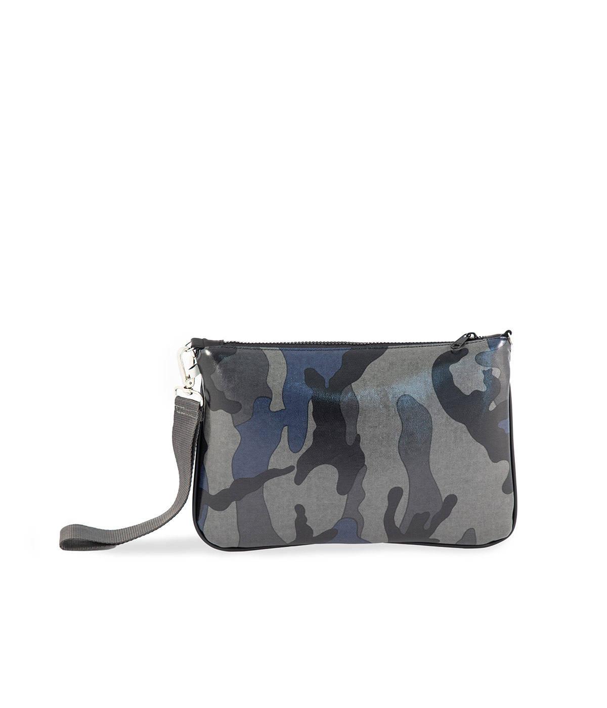 Borsa Camouflage Blu Riga Fuxia Quittobags