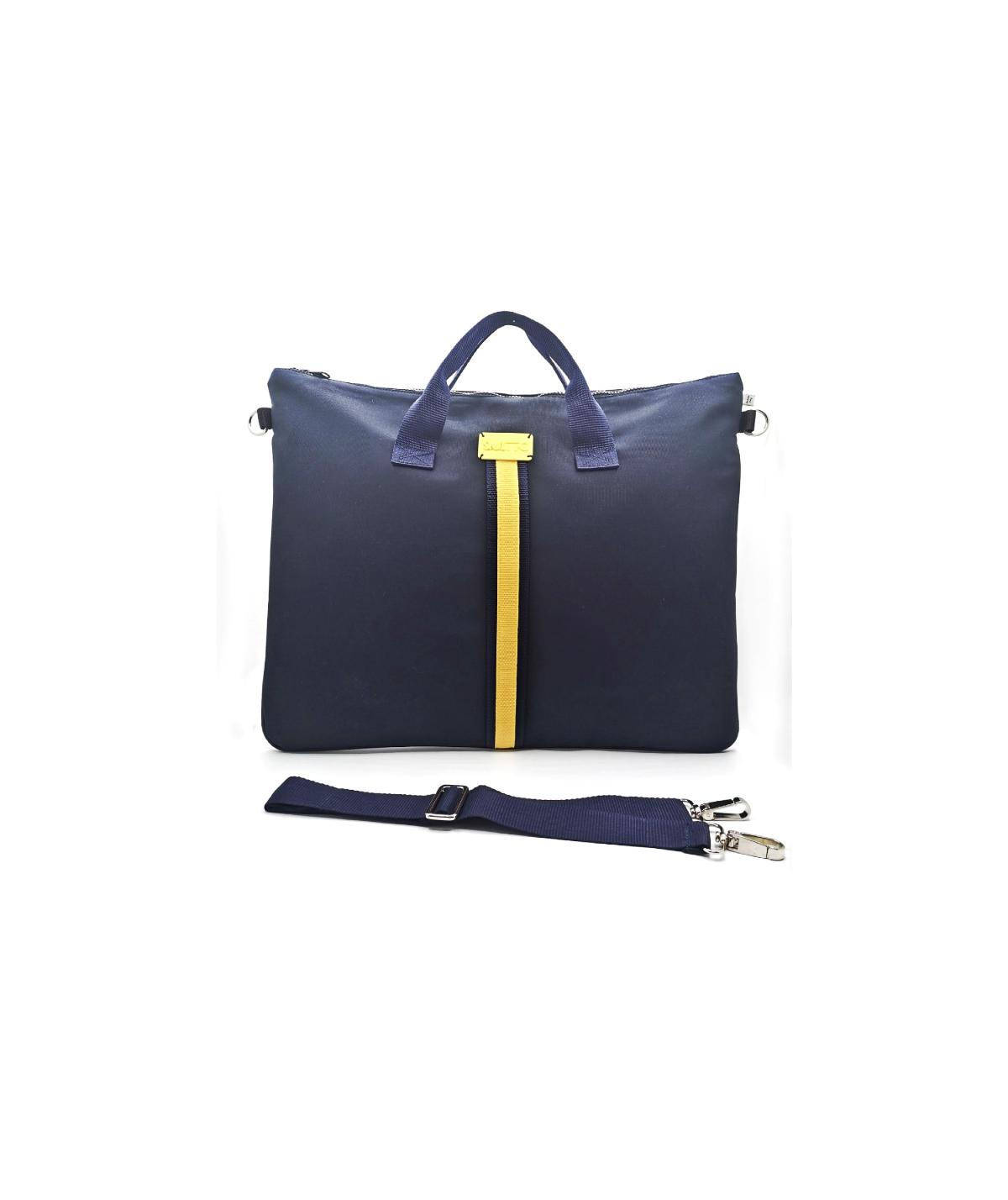 maxi-bag-blu-riga-gialla-davanti