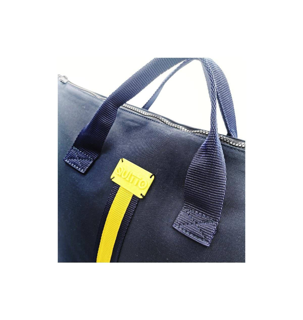 maxi-bag-blu-riga-gialla-dettaglio