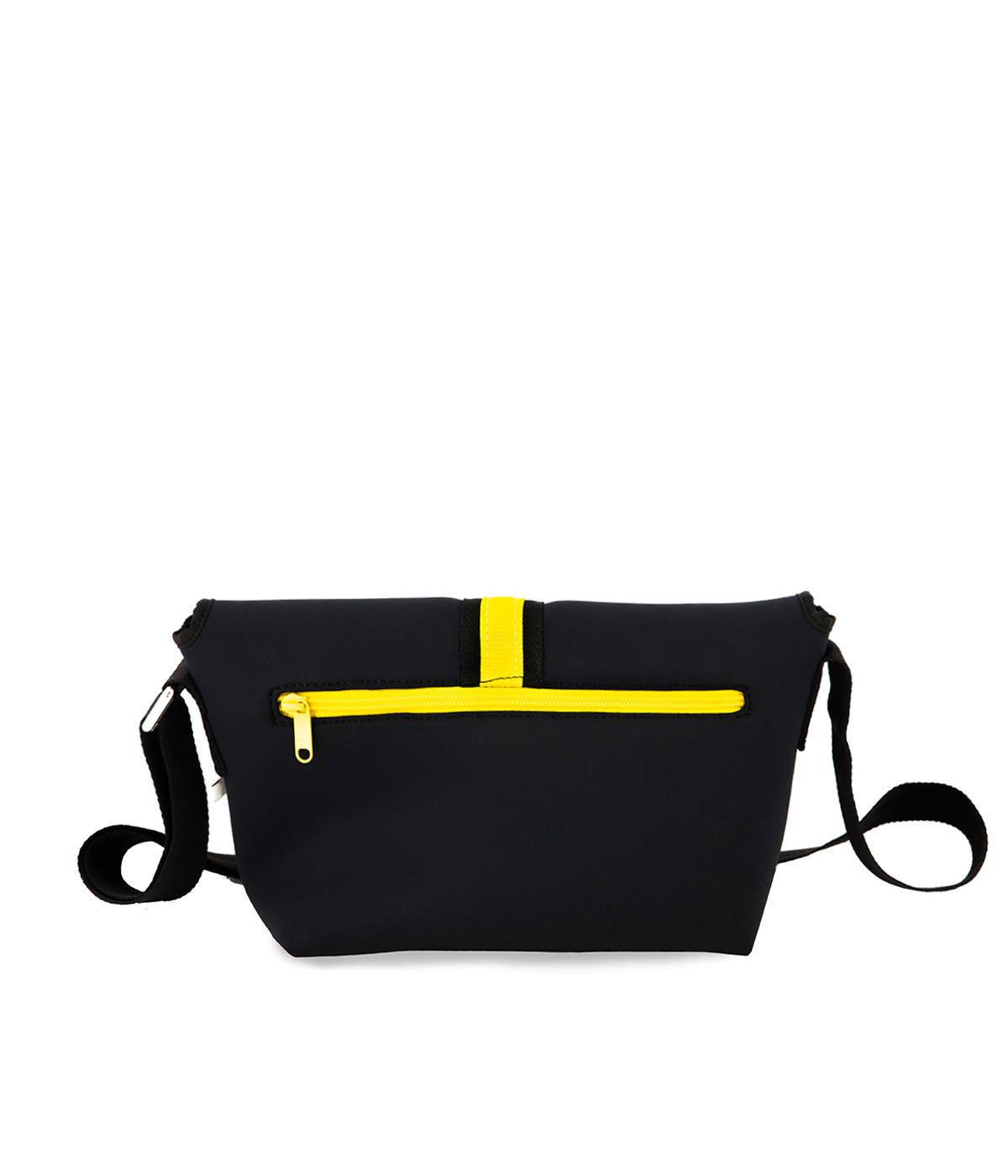 Tracolla Neoprene Impermeabile Nero Quitto Bags