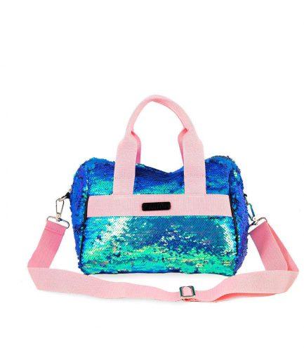 Bauletto Paillettes Azzurra Quitto Bags