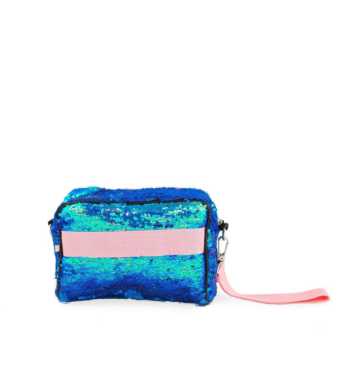 Beauty Bag Paillettes Azzurra Quitto Bags