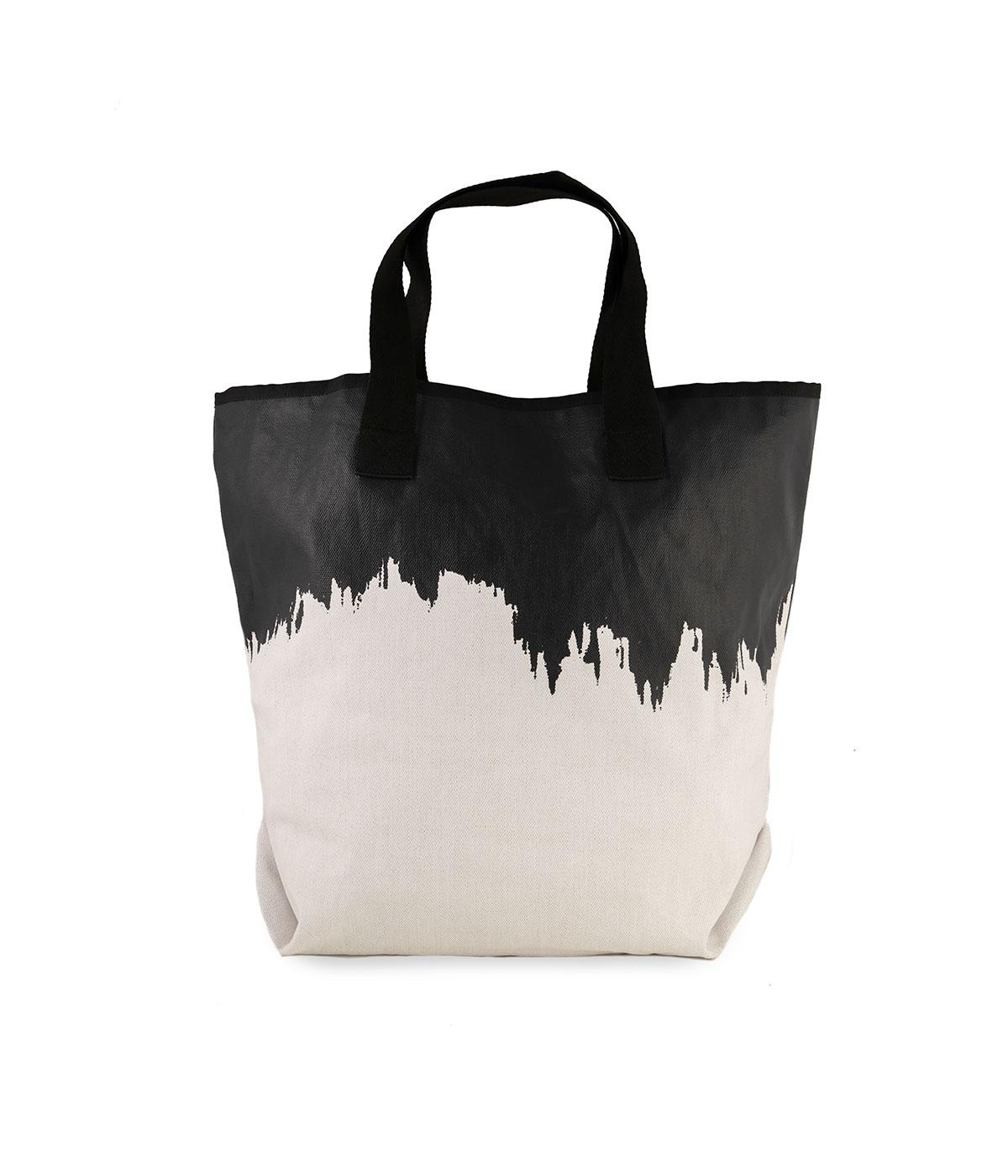 sSacca Rettangolare Impermeabile Bianca e Nera Quitto Bags
