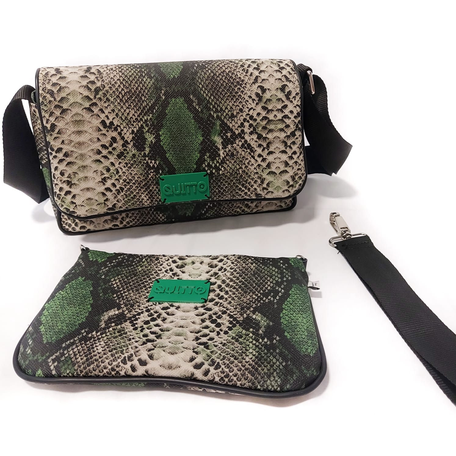 Mini Bag Pitonata Verde