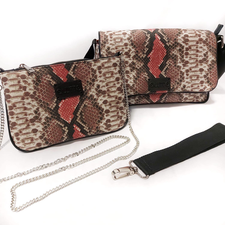 Mini Bag Pitonata Marrone
